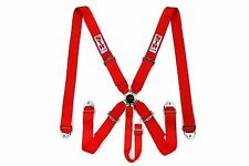 5 Point Racing Safety Harness Seat Belt SFI  Aircraft Cam Lock Release    RED