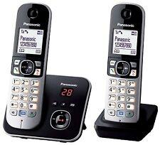 Panasonic KX-TG6822 DECT-Schnurlostelefon mit AB schwarz-Silber