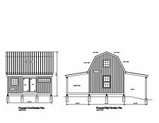 20'x16' -GABLE STRUCTURE SHED BARN GARAGE PRINT BLUEPRINT PLAN #1620 GAMBREL