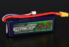 Turnigy Nano-Tech 2200mAh 11.4v 3S 35C 70C Lipo Battery XT60 XT-60 Blade 450 US