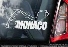 Circuit de Monaco - F1 Car Window Sticker - Monte Carlo Track Sign Formula 1 Map