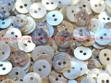 100 Mother of Pearl Round Shell Buttons Mini 8mm Natural Shell Button B186