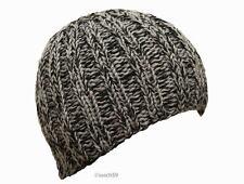 Mütze Strickmütze Beanie Wollmütze Cap Herren schwarz grau Wolle Handarbeit H14*