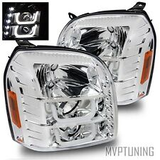 07-14 Yukon/XL/Denali/Hybrid Chrome Fiber Optic LED Projector Headlights LH+RH