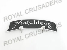 NEW MATCHLESS FRONT MUDGUARD NUMBER PLATE BRASS CHROME