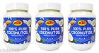 3 x KTC 100% Pure Coconut Oil - Edible, Cooking, Hair & Skin Moisturiser - 500ml