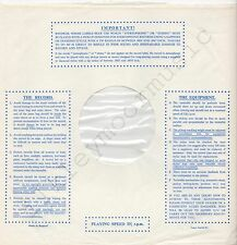 """Vintage INNER SLEEVE or SLEEVES 12"""" IMPORTANT! THE RECORD EQUIPMENT dots v2 x 1"""