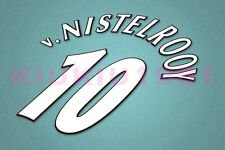 Manchester United v.Nistelrooy #10 Champions League 97-06 White Name/Number Set