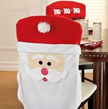 Santa Claus Chair Covers Christmas Table Decor Runner Placemat Set 2 Wreath Gift
