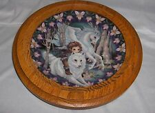 To Fly Without Wings Unicorn Plate Oak Frame Reco Guardians Of The Kingdom