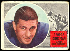 1960 TOPPS CFL FOOTBALL 79 GEORGE DRUXMAN WINNIPEG BLUE BOMBERS UNIV OF PORTLAND