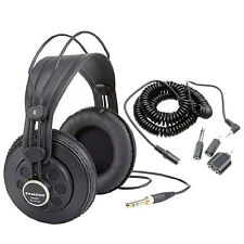 Samson SR850 Professional Studio Headphones + 20 Ft.Extension Cord + Adaptor Set