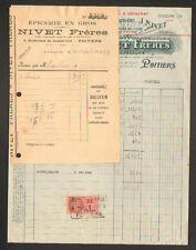 """POITIERS (86) EPICERIE DROGUERIE CONFISERIE """"NIVET Freres"""" en 1937"""