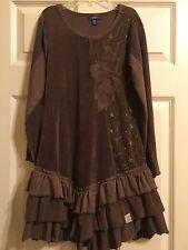 *NAARTJIE* Girls Brown Long Sleeved Dress Size 9