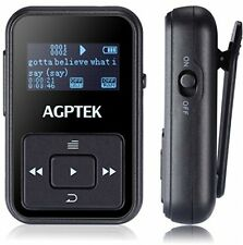 AGPtEK A12 8GB Portable Clip Mp3 Player FM Radio 30 Hours battery black NEW