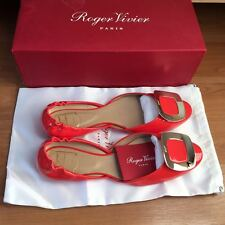 ROGER VIVIER Ballerine Chips Flats Size 39.5 100% Authentic Brand New