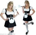 Ladies Sexy French Maid Rocky Horror Fancy Dress Costume Outfit 6-22 Plus Size