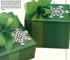 CHRISTMAS Snowflake Tie-Ons/Ornament/Decor/Crochet Pattern Instructions