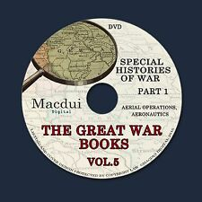 The Great War books Vol.5 Part 1 WW1 Aerial Operations Aeronautics 72 PDF 1 DVD