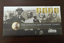 QEII FDC PNC COIN COVER 2008 LONDON 1908 OLYMPIC GAMES £2 ROYAL MINT/MAIL B/UNC