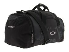 New Oakley Small Carry Duffel Weekender Bag Gym Duffle Polyester Black Polyester