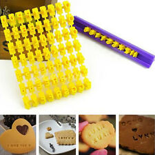 Alphabet Letter Number Biscuit Cookie Tool Press Stamp Embosser Cake Mould