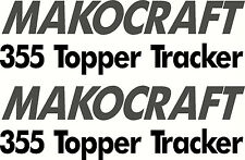 Makocraft 355 Topper Tracker Sticker Decal Set