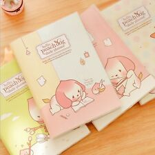 """Peach Dog"" 1pc Planner Agenda Scheduler Study Diary Pocket Journal Notebook"