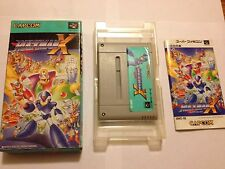 Rockman X 1 Mega Man Super Famicom SFC CIB Complete Tested US Seller