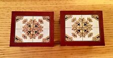 Vintage LUNDBY Beautiful  Pair Of Mosaic Tables #5316 VHTF In Set!!!