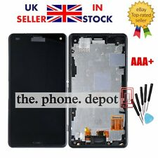 For Sony Xperia Z3 Compact mini D5803 LCD Touch Screen Digitizer Display Frame