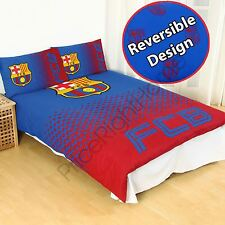 FC BARCELONA FADE DOUBLE DUVET COVER & PILLOWCASE SET OFFICIAL FOOTBALL BEDDING