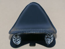 Black Leather SOLO Seat Pan Frame Cover Barrel Spring For Harley Bobber Custom