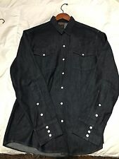 DICKIES 1922 - LIMITED EDITION USA MADE - WESTERN SNAP BUTTON - DENIM - SIZE L