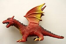 TOY 2-HEADED RED DRAGON PVC PLASTIC FIGURE MEDIEVAL KNIGHTS & FANTASY MONSTER