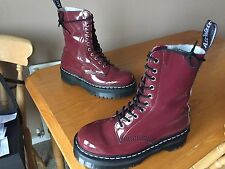 Dr Martens Aggy 1490 cherry red smooth jadon boots UK 6 EU 39 punk skin patent
