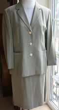 Betty Barclay lined skirt suit Beige fit size 14 knee length skirt waist 31in