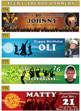 4ft Personalised Teenage Trendy Male Party Banners With Your Photo & Name On