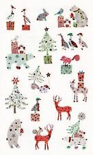 Mrs. Grossman's Turnowsky Stickers - Holiday Friends - Deer, Bear - 2 Strips