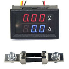 DC 0-300V 200A + Shunt Voltage Current Panel Meter Digital LED Voltmeter Ammeter