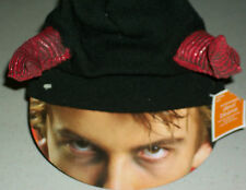 Halloween Trick Or Treat devil beanie cap horns party Scary costume accessory