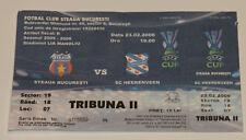 OLD TICKET UEFA Steaua Bucarest Romania - SC Heerenveen Holland Netherlands