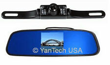REAR VIEW MIRROR MOUNT BACKUP CAMERA SYSTEM - License Mount 120° View Color Cam