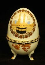 Islamic Muslim white ceramic egg/Al Kaaba/Gift, favor / Home decorative
