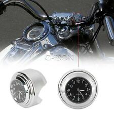 Chrome CNC Handlebar Clock For Harley Softail Springer Heritage Classic FLSTC