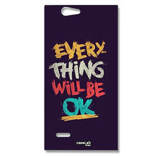 CUSTODIA COVER CASE FRASE EVERYTHING WILL BE OK PER ZTE BLADE L2