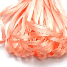 Un mètre de doux ruban de soie, light peach couleur, 4 mm large