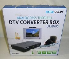 New Digital Stream DTX9980 DTV Converter Box Upgrade of DTX9950 Remote Control