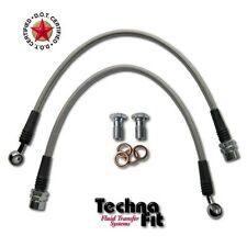 FRONT Techna-Fit Stainless Steel Braided Brake Lines Set MUST-1100FRT