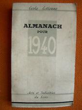 ALMANACH 1940 – ECOLE D'ESTIENNE – ARTS & INDUSTRIES DU LIVRE TYPO ILLUSTRATION